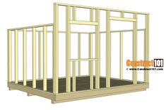 lean to shed plans - rafters installed.