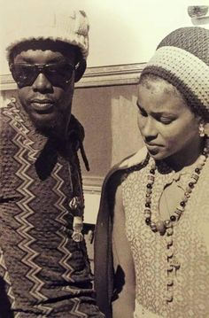 *Peter Tosh* & his then girlfriend Yvonne. More fantastic pictures and videos of *The Wailers* on: https://de.pinterest.com/ReggaeHeart/