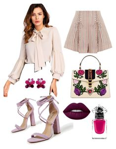 """""""Untitled #11"""" by beacraven ❤ liked on Polyvore featuring Zimmermann, Gucci, NOVICA, Lime Crime and Guerlain"""