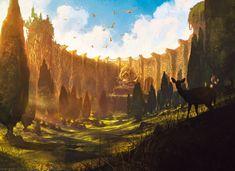 Noah Bradley - Temple of Plenty - Born of the Gods - 1,981×1,440 pixels