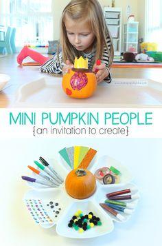 Mini Pumpkin People {An Invitation to Create}   Mama.Papa.Bubba.