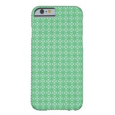 Mint Green/White crosses and dots pattern Barely There iPhone 6 Case   Simple, stylish, trendy. The perfect choice for your precious device. You can have this pattern in different colors, developed for her and him. Just have a look at my store. .Have a glamorous case nobody can't notice. Stay cool!