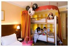 …kids will love the colourful rooms of Magic Circus Hotel at Disneyland® Paris, France