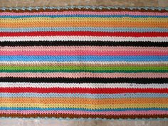 Multicolour! Vintage  Long Crochet  Kitchen Rug, Bath Mat From Tulle!!! by VintageHomeStories, €50.00