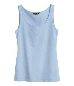 H&M Light Blue Jersey Tank Top http://www.hm.com/us/product/10455?article=10455-F
