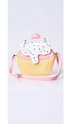 90fd53e3309a5 Iron Fist Yellow   Pink Strawberry Lemonade Cupcake Handbag Polka Dot  Purses