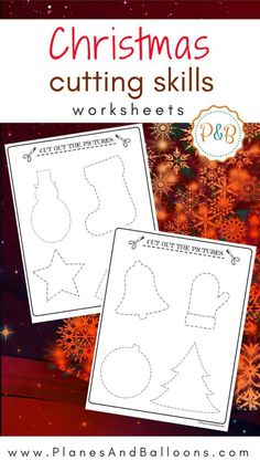 Your preschoolers will enjoy these cute cutting Christmas worksheets. Let them have fun tracing, cutting and coloring this Christmas season.