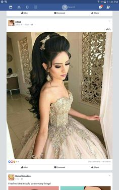 Pin by טלי on wedding hairstyles in 2019 Prom Hair Updo Elegant, Romantic Wedding Hair, Wedding Hair And Makeup, Bridal Hair, Hair Makeup, Wedding Summer, Ethnic Hairstyles, Formal Hairstyles, Bride Hairstyles