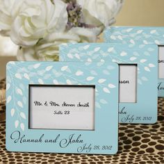 This Leaves Of Love favor can be for the place cards at your Reception and then a frame for your guest!