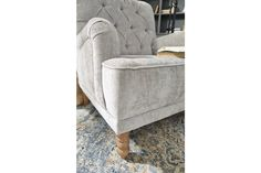 Dinara Accent Chair | Ashley Furniture HomeStore Royal Room, Grey Accent Chair, Comfortable Accent Chairs, Entertainment Furniture, Comfort Mattress, Cool Chairs, At Home Store, Signature Design, Wood Turning