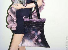 Sac « Brume matinale », des femmes sac, Sac feutré, sac de laine, OOAK, eco friendly sac, femmes accessoires, sacs & sacs à main, ordonner