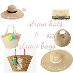 Spring trends: straw bags