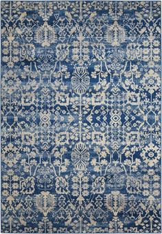 Nourison Somerset Traditional Rustic Vintage Navy Blue Area Rug 3 Feet 6 Inches by 5 Feet 6 x ** Check this awesome product by going to the link at the image. (This is an affiliate link) Navy Rug, Navy Blue Area Rug, Blue Area Rugs, Carpet Runner, Rug Runner, Textiles, Textile Patterns, Woven Rug, Rugs Online