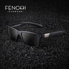 #Fashion #BestPrice FENCHI Classic Polarized Sunglasses Men Driving Metal Rivet Mirror FHD1561