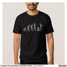 92bcaed3 Zombie Evolutionary evolution chart funny science T-Shirt   Zazzle.com