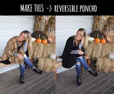 reversible poncho