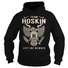 I Love Team HOSKIN Lifetime Member - Last Name, Surname T-Shirt Shirts & Tees