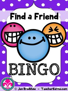 FREE First Day of School ~ Find a friend BINGO for back to school fun for your classroom. FREEBIE! #free #bingo