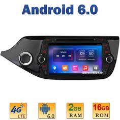 "8"" 1024*600 Quad Core 2GB RAM 4G LTE SIM WIFI Android 6.0 Car DVD Player Radio Stereo For Kia CEED 2013 2014 2015 Mirror Link BT"