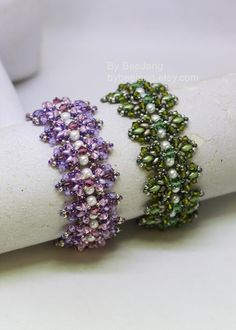 Beading Tutorials Liliana Bracelet Patterns Digital | Etsy Jewelry Making Tutorials, Beading Tutorials, Jewelry Ideas, Jewelry Gifts, Beading Needles, Bracelet Patterns, Bead Weaving, Handmade Gifts, Etsy