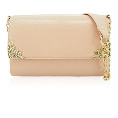 Kalista Patent Embellished Shoulder Bag ($39) ❤ liked on Polyvore