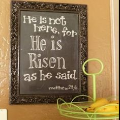 Yes! A chalkboard for new scripture every day :)