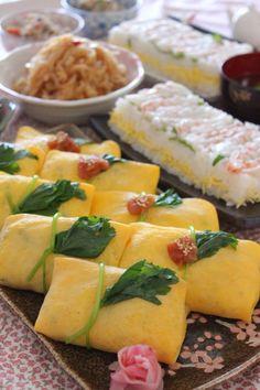 ふくさ寿司&エビの押し寿司