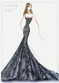Elie Saab illustration