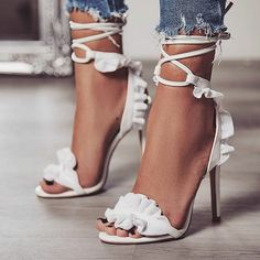 Women's Sandals Summer Fish Mouth Cross Strap Lace High Heel Stiletto – cuteshoeswear heels aesthetic heels and jeans outfit heels pumps stilettos Jeans # street style To Wear Prom Heels, Pumps Heels, Stiletto Heels, Sandal Heels, Gladiator Heels, Sexy Heels, Strap Heels, Ankle Straps, Lace Up High Heels