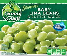 Green Giant® Steamers Baby Lima Beans & Butter Sauce 10 oz. Box--a great accompaniment to the Healthy Choice meals!