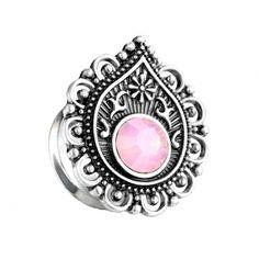Piercing, Messing, Class Ring, Plugs, Gemstone Rings, Pink, Gemstones, Jewelry, Steel