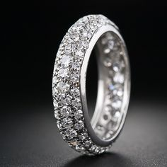 Pave' Diamond Eternity Band - 110-1-4030 - Lang Antiques