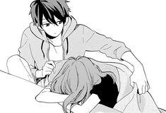 anime couple, cute, draw, manga, manga boy