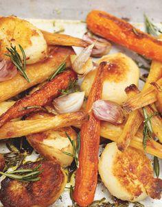 Roast Potatoes, carrots and parsnips