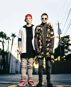 Josh and Tyler <<-- Although Josh's shoes in this, are a big problem.... He needs to get him some New Balances!