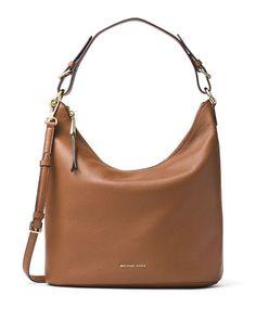 a74553c82a81 Michael Kors Lupita Large Leather Hobo Bag, Luggage Leather Hobo Handbags,  Cross Body Handbags