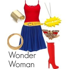 Wonder Woman (DC) and other Superhero-inspired work outfits for Halloween and costume events
