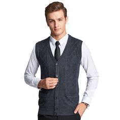 Here is a sneak peak at what's new and fresh at Costbuys today Men's Knitted V-n... see for yourself and don't ever doubt again http://www.costbuys.com/products/mens-knitted-v-neck-sleeveless-wool-striped-single-breasted-sweater-fashion-casual-solid-slim-vest?utm_campaign=social_autopilot&utm_source=pin&utm_medium=pin