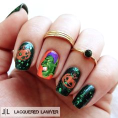 Lacquered Lawyer | Nail Art Blog: Green Goblin