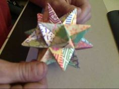 ▶ How to fold an Origami Modular Star - YouTube