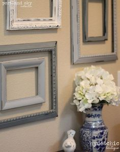 Trendy Shabby Chic Frames On Wall Pictures Decoration Ideas Shabby Chic Wall Decor, Shabby Chic Frames, Shabby Chic Bedrooms, Shabby Chic Kitchen, Shabby Chic Furniture, Trumeau, Decoration Entree, Home Decoracion, Deco Addict