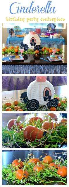 Cinderella's Royal Ball: Host a Magical Princess Party! Cinderella's Carriage Centerpiece Craft