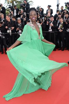 Lupita Nyong'o's Gucci Première dress is Cannes Film Festival's most exquisite. See it at every angle.