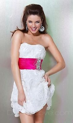 i would so make this my brides maids dress if you change the pink to like purple or blue