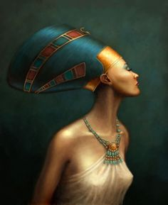 I think this is neferetiti from the headdress...but she is a goddess just the same