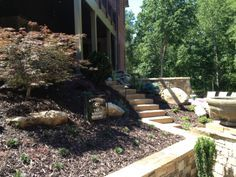 Beautiful example of stone steps on this pool project