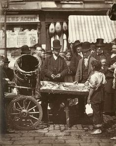 The Cheap Fish of St-Giles, London, around 1877