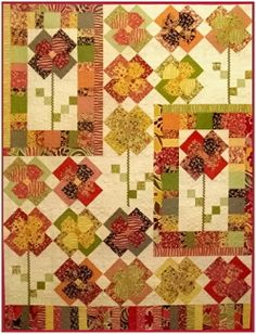 Flower Patch Quilt Pattern - Green Fairy Quilts