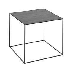 by Lassen - Twin 42 Beistelltisch, schwarzer Rahmen, schwarze Esche / cool grau Esche schwarz T:42 H:42 B:42