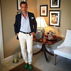 Classic Palm Beach - attire (with some green accents)... #palmbeach #florida #streetstyle #streetfashion #luxury #lifestyle #style #elegance #mensstyle #mensfashion #men #gentleman #dapper #dandy #casual #chic #fashion #design